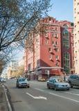 在Bolshaya Andronievskaya街道,莫斯科,俄罗斯上的行政办公楼 免版税图库摄影