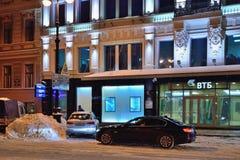 在Bolshaya Morskaya的VTB银行办公室在冬天28-13 图库摄影