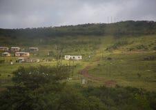 在Bongoza附近的风景在南非的东开普省 免版税图库摄影