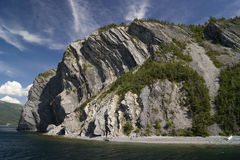 在Bonne海湾附近的峭壁 免版税库存图片