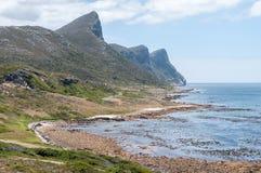 在Bordjiesrif的海滩场面开普角的 库存图片
