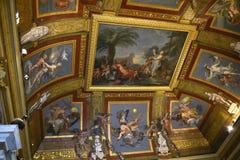 在Borghese汇集的天花板在别墅Borghese罗马意大利 库存照片