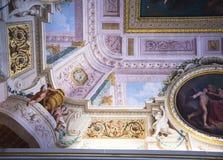 在Borghese汇集的天花板在别墅Borghese罗马意大利 免版税库存照片