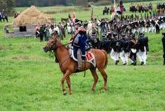 在Borodino的马车手在俄罗斯作战历史再制定 图库摄影