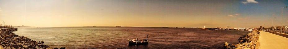 在Bosfor的伊斯坦布尔视图 库存照片