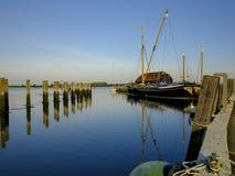 在Bosham港口和村庄,西萨塞克斯郡,英国的日出 库存照片