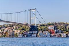 在Bosphorus的伊斯坦布尔第二桥梁 库存照片