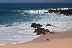 在Boucan Canot海滩,团聚的浅水区 免版税库存照片