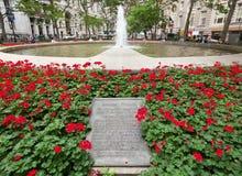 在Bowling Green公园,曼哈顿的喷泉 库存图片