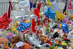 在Boylston街上的纪念品在波士顿,美国 库存图片