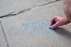 在Boylston街附近的街道画在波士顿,美国, 库存照片