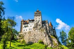 在BraÈ™ov, Transylvan临近地区的麸皮城堡  库存照片
