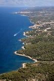 在Brac海岛上的小海湾 免版税库存照片