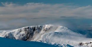 在Braeriach的雪风暴 免版税库存照片