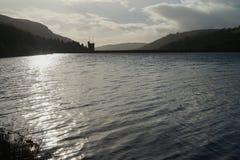 在Brecon烽火台,南威尔士的水坝 免版税库存图片