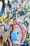 在brickwall的Graffitti 库存照片