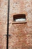 在Bridewell监狱利物浦的砖墙 图库摄影