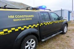 在Bridlington东部约克夏的海岸警备队车 图库摄影