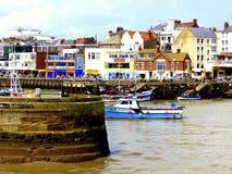 在Bridlington的海港入口 免版税库存照片