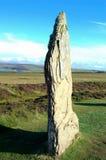 在Brodgar环形的石头    免版税图库摄影