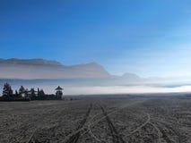 在Bromo火山的寺庙 库存图片