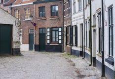 在brugges的被修补的街道,比利时 库存图片