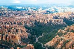 在Bryce峡谷的不祥之物 免版税库存图片