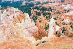 在Bryce峡谷的不祥之物 库存图片