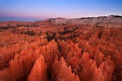 在Bryce峡谷的日落 免版税库存照片