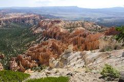 在bryce峡谷的风景 图库摄影