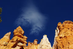 在Bryce峡谷,犹他的云彩 免版税图库摄影