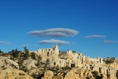 在Bryce峡谷,犹他的神秘的云彩 免版税库存图片