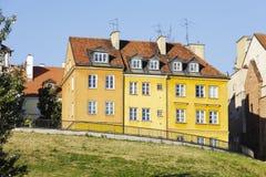 在Brzozowa的连栋房屋在华沙 库存图片