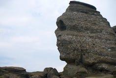 在Bucegi山喀尔巴汗的狮身人面象岩石在罗马尼亚欧洲 免版税库存照片