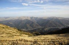 在Bucegi山的谷 库存图片