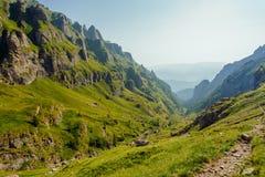 在Bucegi山的风景 免版税图库摄影