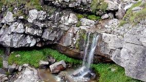 在Bucegi山罗马尼亚的瀑布 影视素材