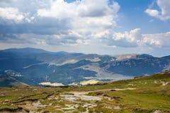 在Bucegi的高山横向 免版税库存图片