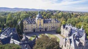 在Buckeburg宫殿的鸟瞰图 免版税库存照片