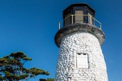 在Buckroe海滩公园和海滩的灯塔 免版税图库摄影