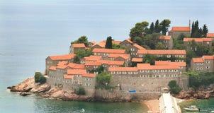 在Budva附近的小的海岛, Montenegro 免版税库存图片