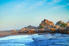 在Buffels海湾的海滩 免版税库存图片