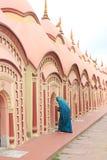 在Burdwan,西孟加拉邦,印度的108希瓦寺庙 库存图片