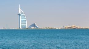 在Burj Al阿拉伯人旅馆的看法 库存图片