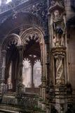 在Bussaco宫殿,葡萄牙的一个富有地装饰的画廊 免版税库存照片