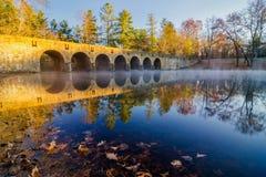 在Byrd湖的秋天 免版税库存照片