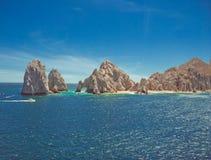在Cabo圣卢卡斯的土地末端 免版税图库摄影
