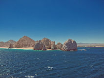 在Cabo圣卢卡斯的土地末端 免版税库存图片