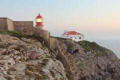 在Cabo圣地Vincente的灯塔 图库摄影