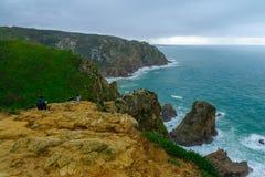 在Cabo海角da Roca的风景 库存图片